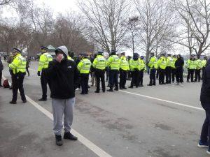 Police at Speaker's Corner