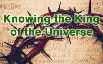 Jesus is the king of the universe
